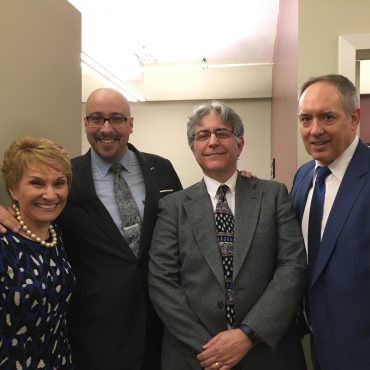 Gary Mayerson with Sen. Gustavo Rivera, Dr. Cece McCarton, and Dr. Eric London
