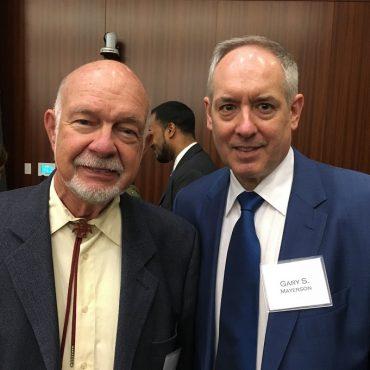 Gary Mayerson introducing Clifford Rowley at NYLS Symposium